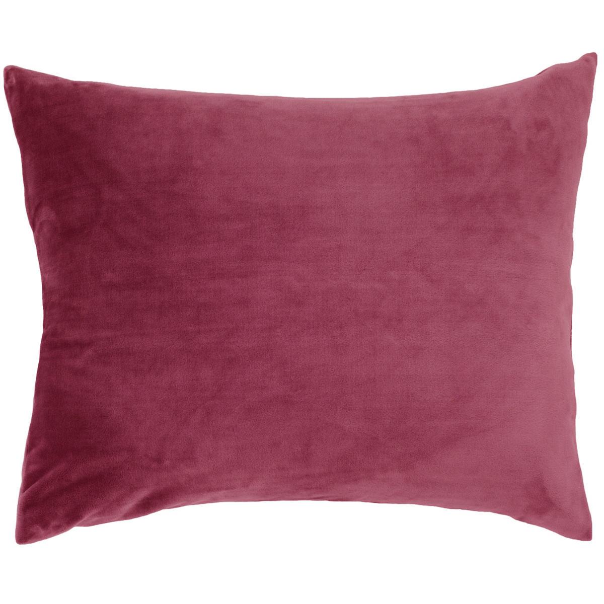 Selke Fleece Garnet Decorative Pillow