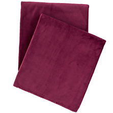 Selke Fleece Garnet Throw