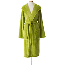 Selke Fleece Green Hooded Robe