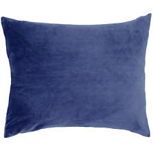 Selke Fleece Indigo Decorative Pillow