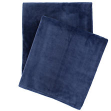 Selke Fleece Indigo Throw