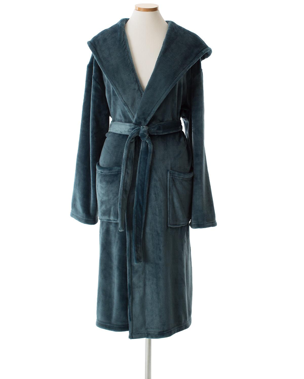 Selke Fleece Juniper Hooded Robe