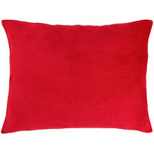 Selke Fleece Red Decorative Pillow