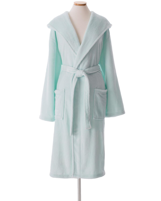 Selke Fleece Sky Hooded Robe