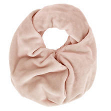 Selke Fleece Slipper Pink Infinity Scarf
