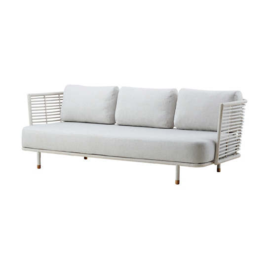 White/Grey Sense 3 Seater Sofa
