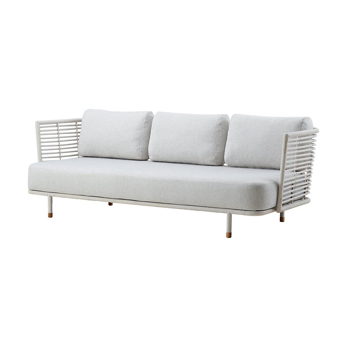 White Grey Sense 3 Seater Sofa
