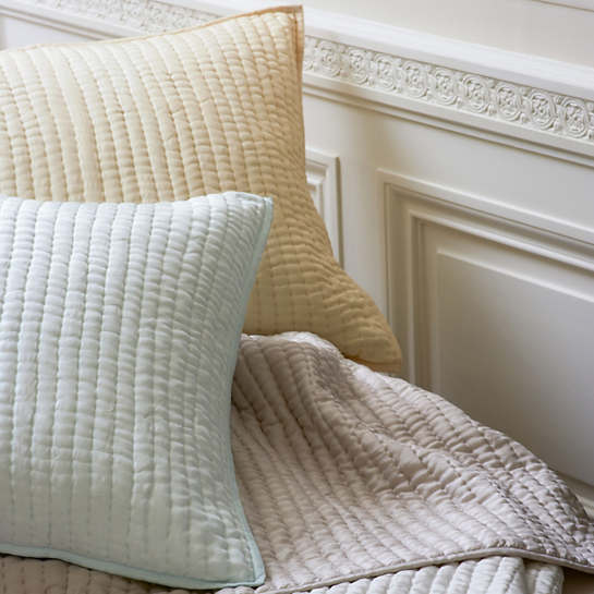 Seta Pearl Blue Quilted Sham