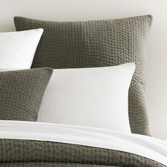 Seychelles Shale Quilted Sham