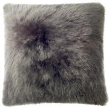Shale Longwool Combed Sheepskin Decorative Pillow