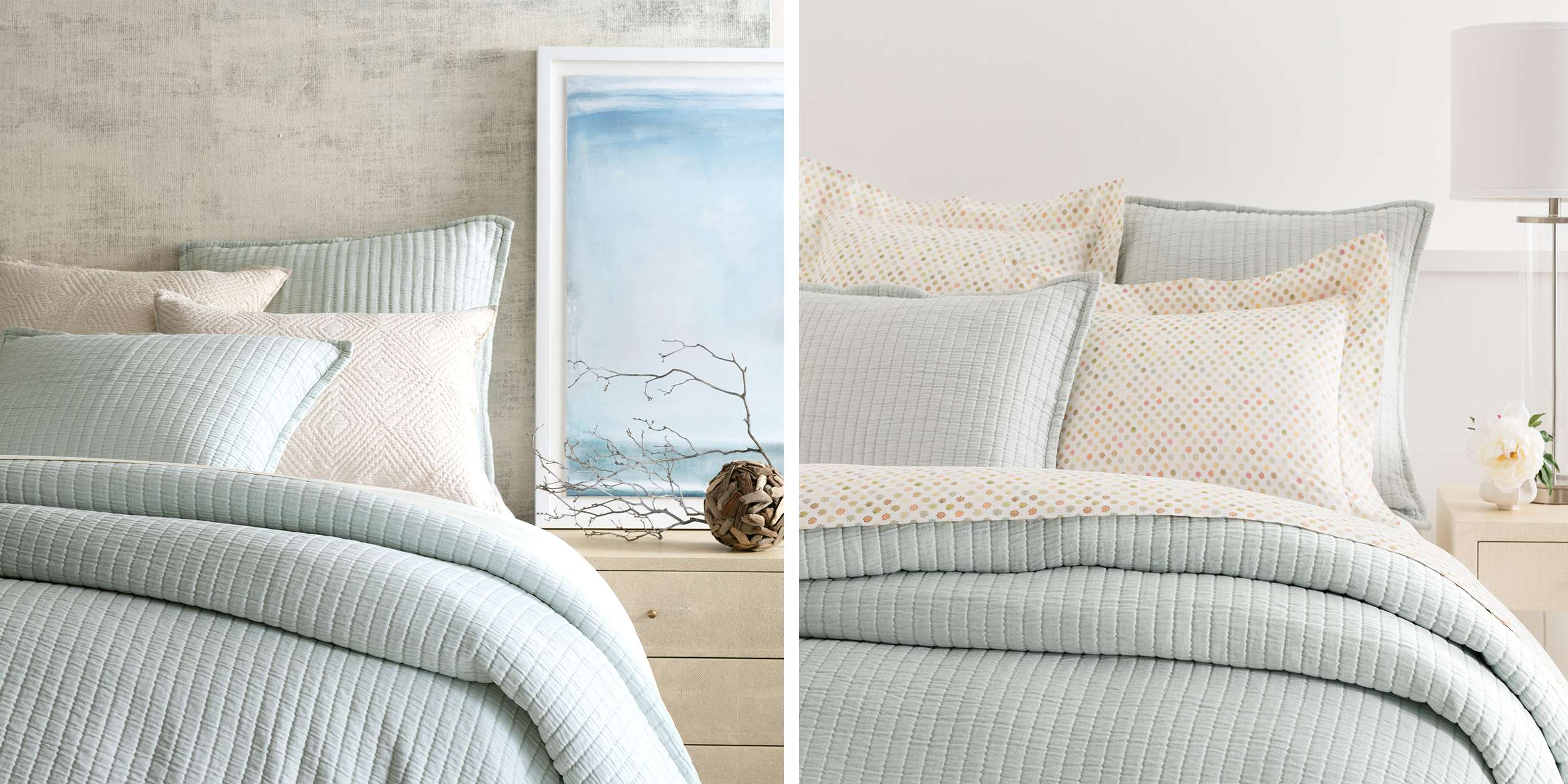 Decorative Bed Pillows Shams : Beducation 101: How to Refresh Your Bed with Decorative Pillows and Shams Annie Selke