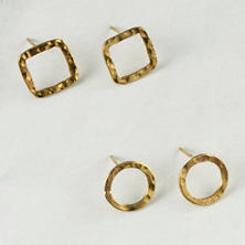 Shapes Stud Earrings Collection/Set Of 2
