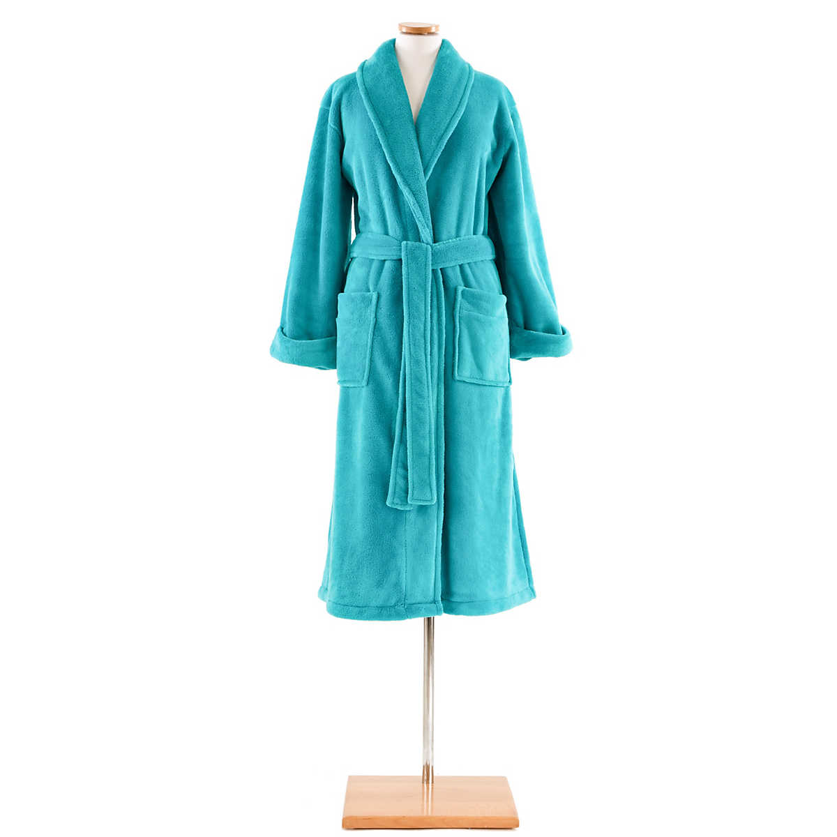 Sheepy Fleece Aqua Robe : Pine Cone Hill