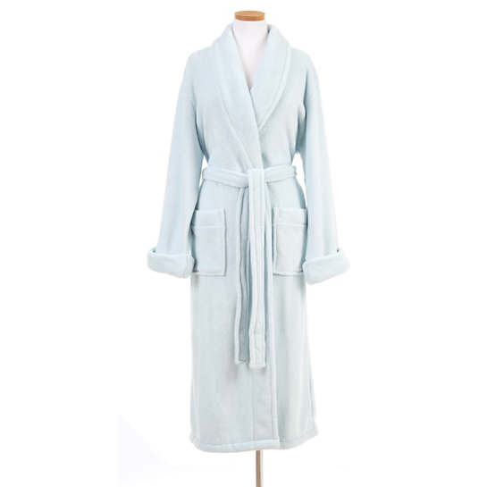 Sheepy Fleece Chalk Blue Robe