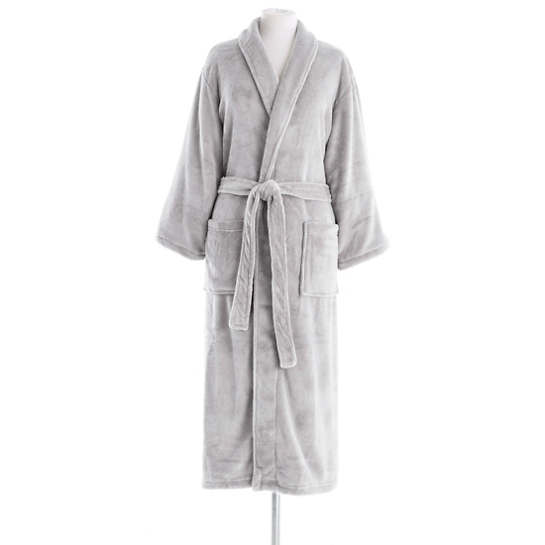 Sheepy Fleece Dove Grey Robe