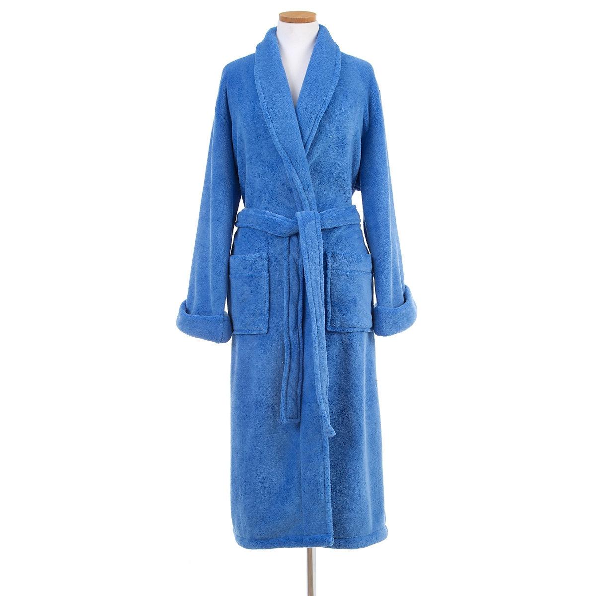 Sheepy Fleece French Blue Robe Pine Cone Hill