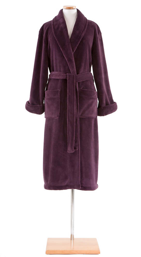 Sheepy Fleece Plum Robe
