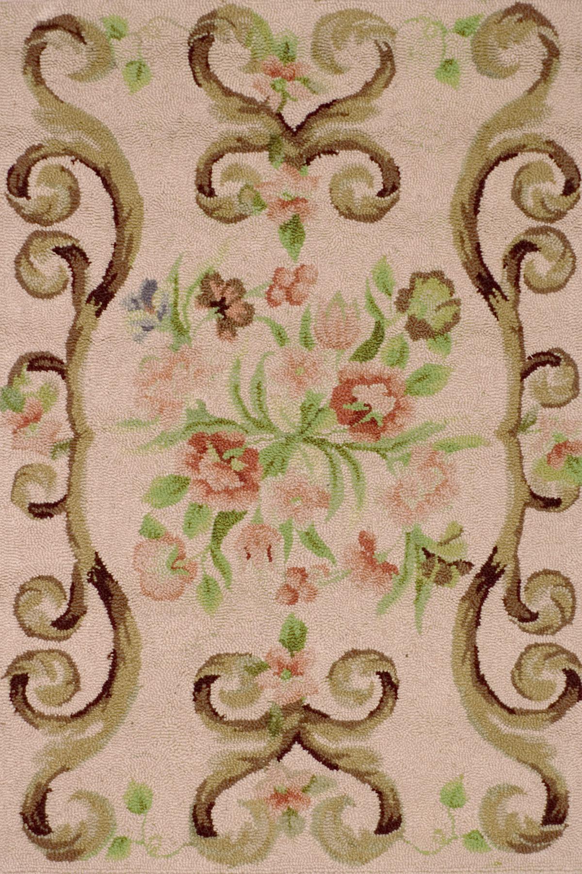 Siena Rose Wool Micro Hooked Rug