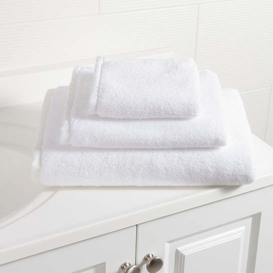 Signature Banded White/White Towel