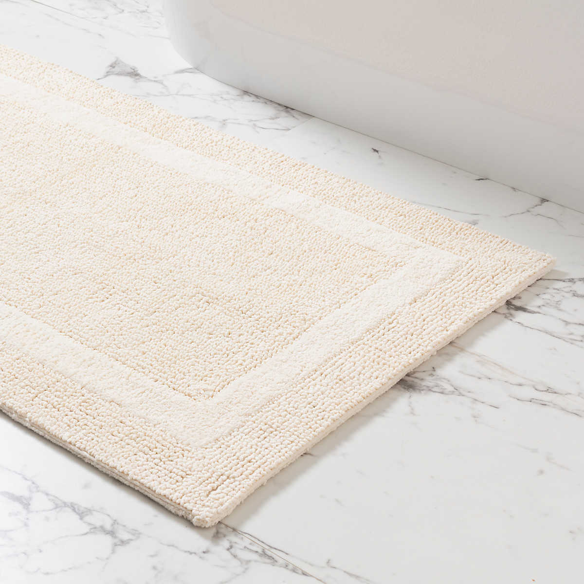 Signature Ivory Bath Rug Pine Cone Hill