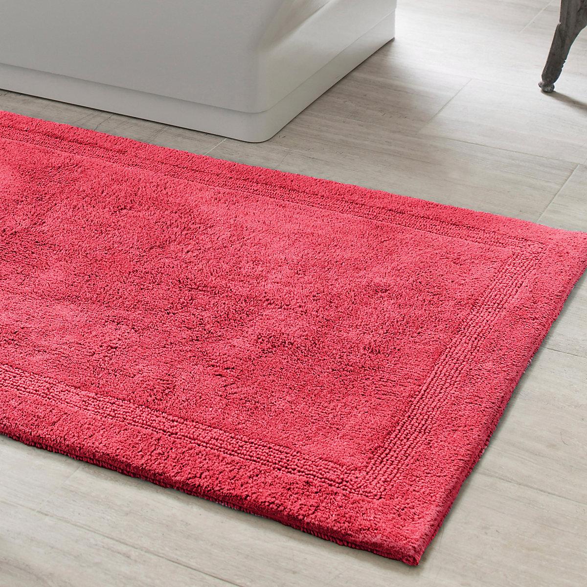 signature red bath rug pine cone hill