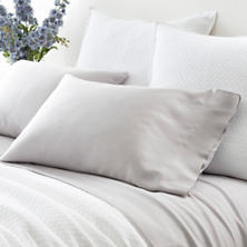 Silken Solid Grey Pillowcases (Pair)