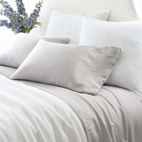 Silken Solid Grey Sheet Set