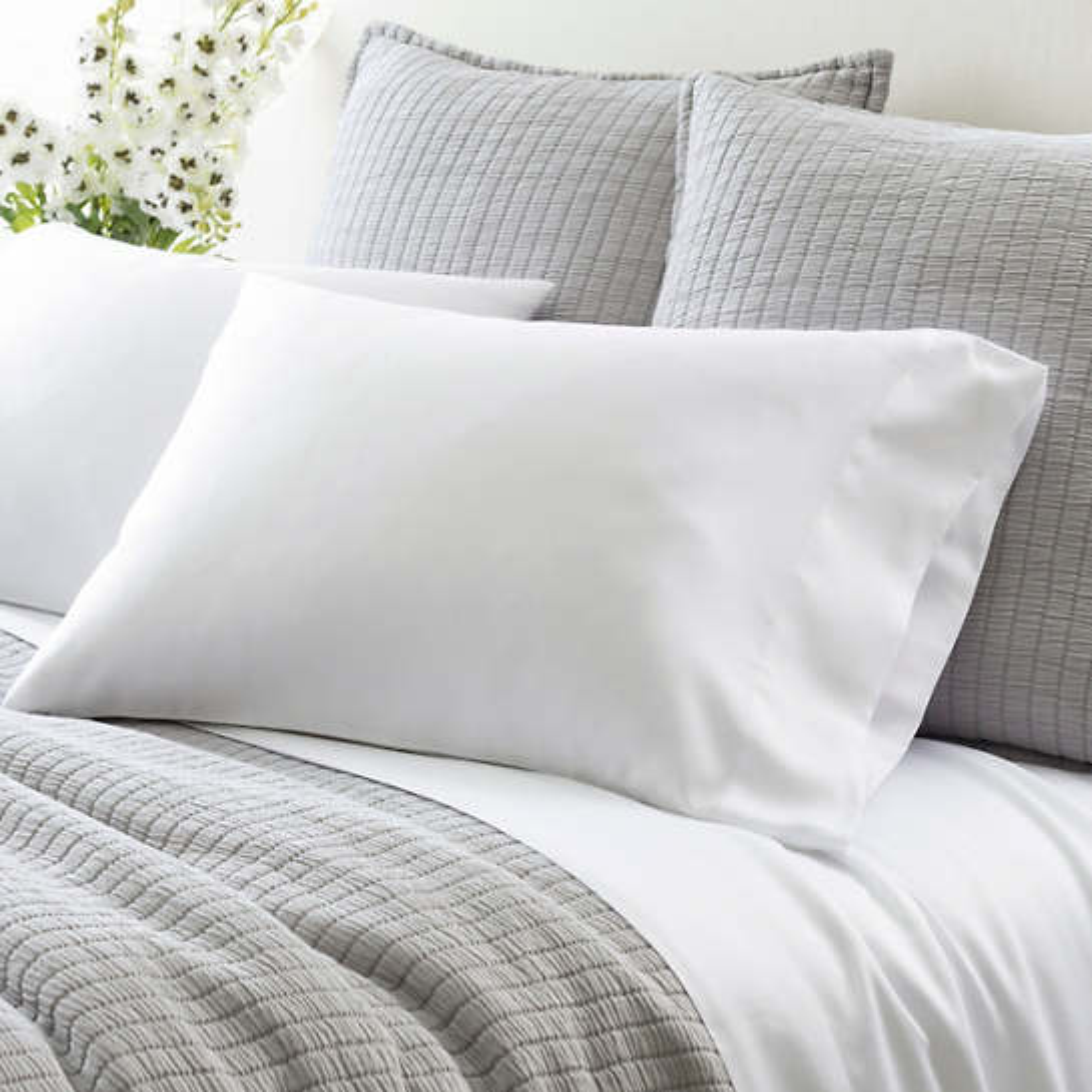 Silken Solid Pillowcases (Pair)