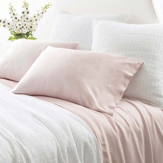Silken Solid Slipper Pink Sheet Set