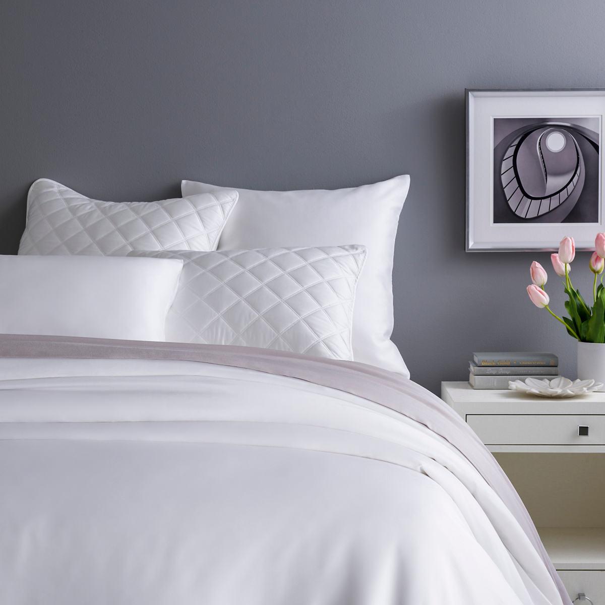 Silken Solid White Duvet Cover