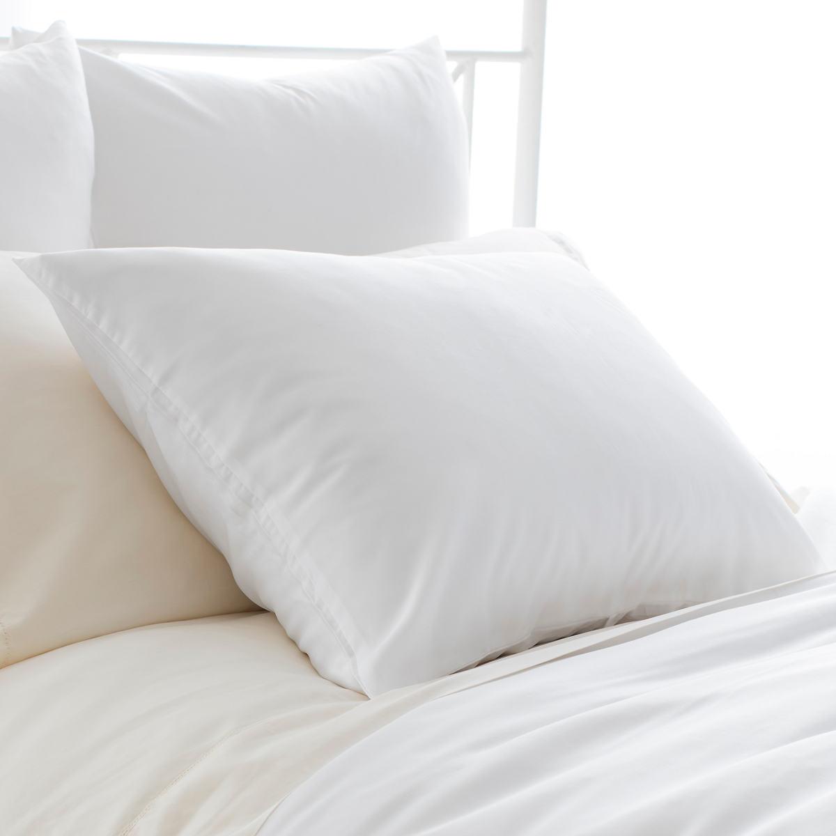 Silken Solid White Sham