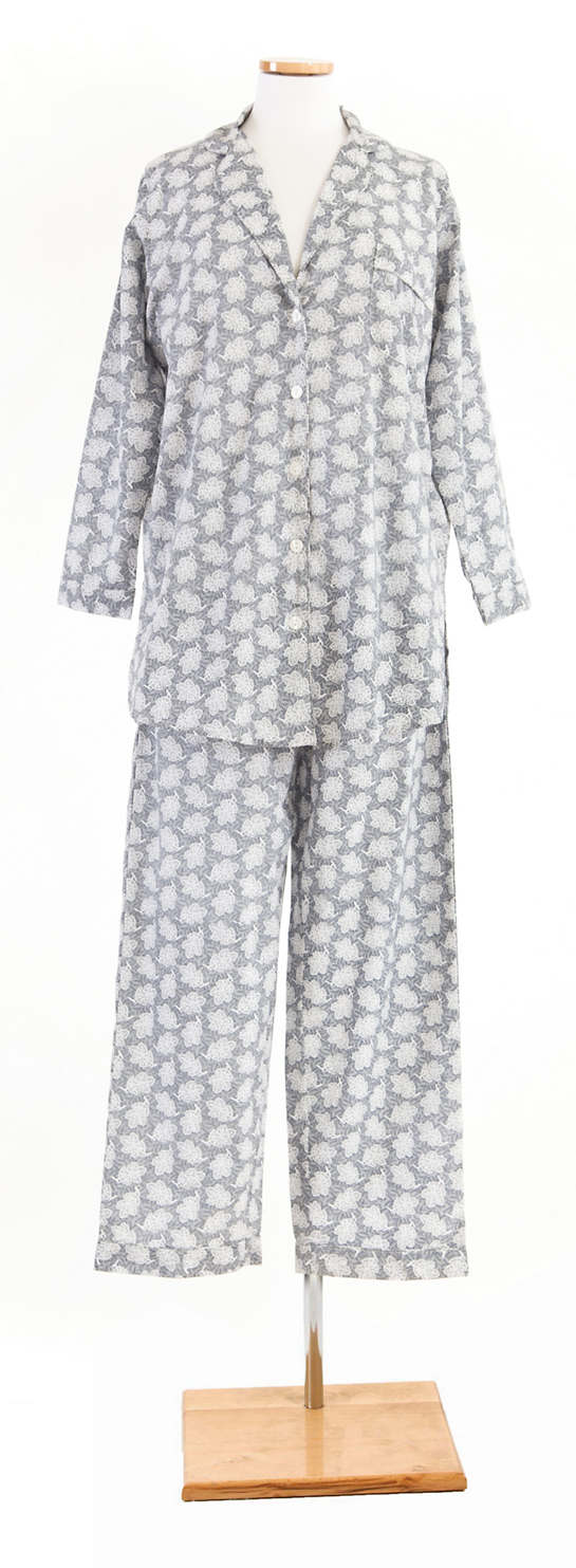 Silver Leaf Shirt Tail Pajama