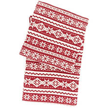 Snowflake Crimson Throw