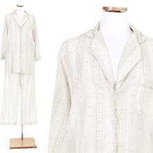 Snowflake Lace Platinum Shirt Tail Pajama