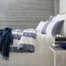 Spinnaker Stripe Indigo Duvet Cover