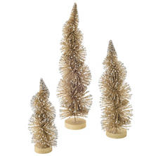 Spiral Gold Trees/Set Of 3