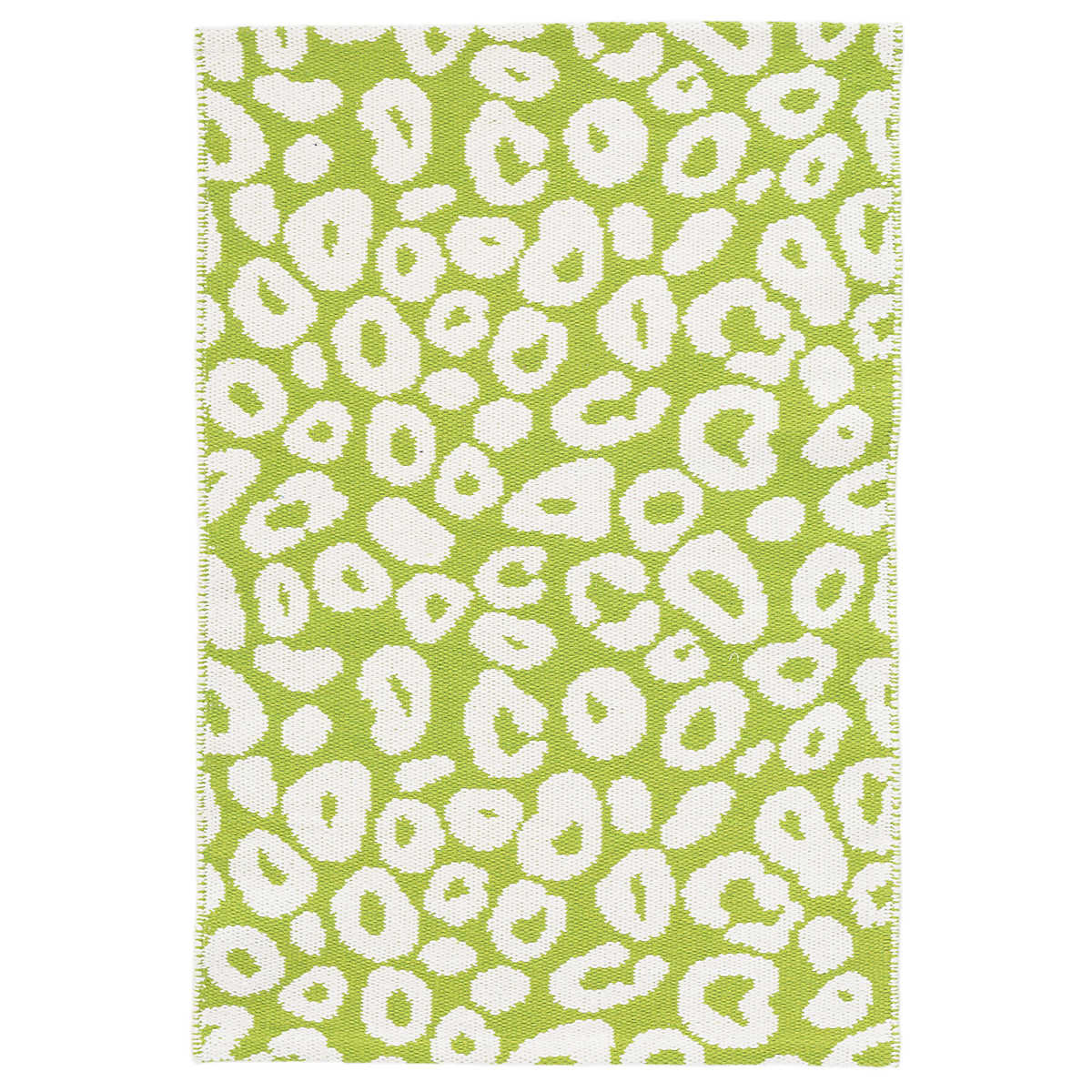 Gypsy Stripe Turquoise Grey Woven Cotton Rug: Spot Green Woven Cotton Rug