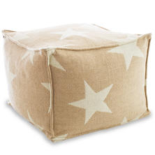 Star Camel/Ivory Indoor/Outdoor Pouf