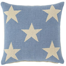 Star French Blue/Ivory Indoor/Outdoor Pillow