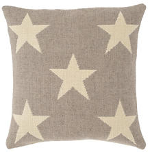 Star Grey/Ivory Indoor/Outdoor Pillow