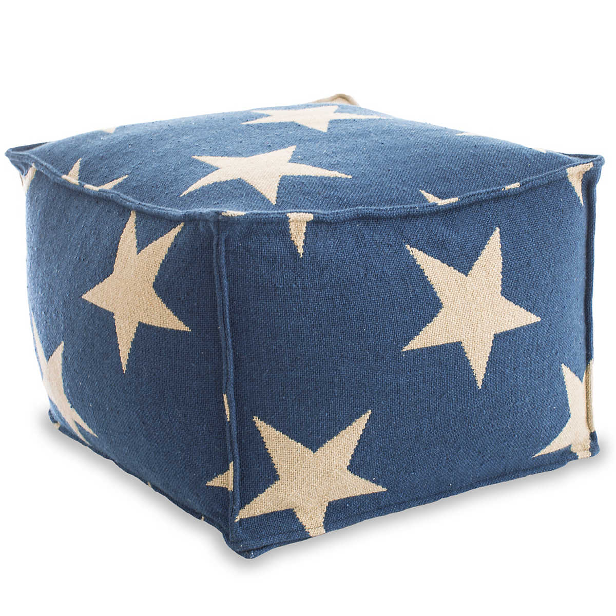Star Navy Camel Indoor Outdoor Pouf Fresh American