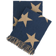 Star Navy Indoor/Outdoor Throw