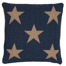 Star Navy Indoor/Outdoor Pillow