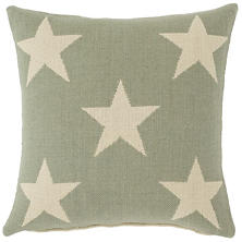Star Ocean/Ivory Indoor/Outdoor Pillow