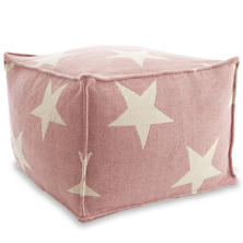 Star Pink/Ivory Indoor/Outdoor Pouf