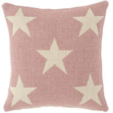 Star Pink/Ivory Indoor/Outdoor Pillow