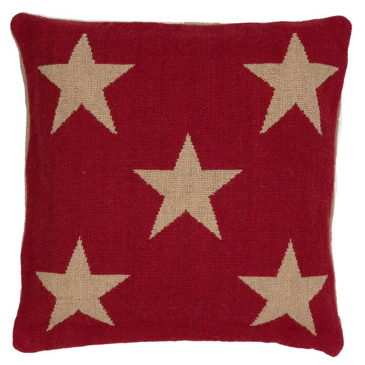 Star Red/Camel Indoor/Outdoor Pillow