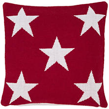 Star Red/White Indoor/Outdoor Pillow