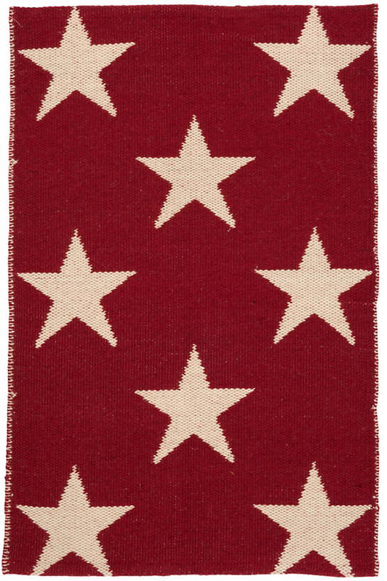 Star Red/Ivory Indoor/Outdoor Rug