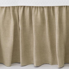 Stone Washed Linen Natural Paneled Bed Skirt